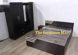 Double bed and 4 door wardrobe brand new