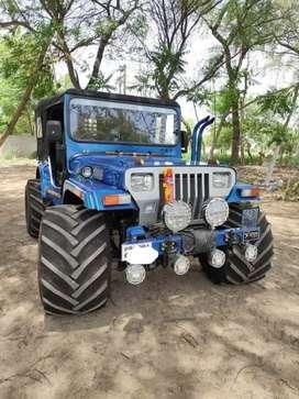 Modified blue jeep