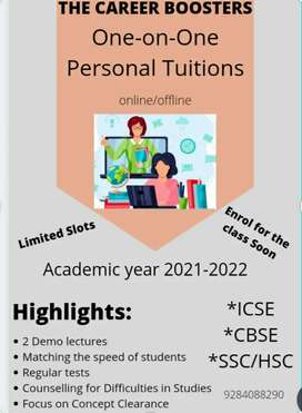 Personal/ Group Tuition (online/ offline)
