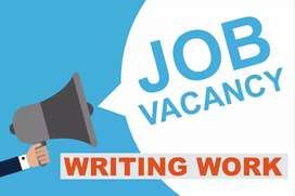 Male female workers needed for new writing job