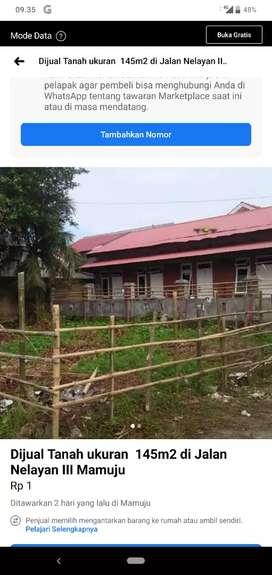 Jual Cepat Tanah Kapling dalam kota Mamuju