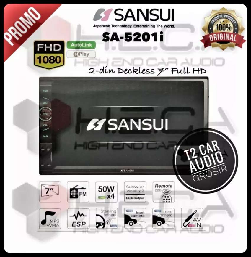 Hot promo 2din SANSUI JAPAN android link 7inc+camera hd mumer gan 0