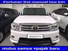 Toyota Fortuner 2.5G TRD diesel automatic/at 2011  Low km +pajak baru