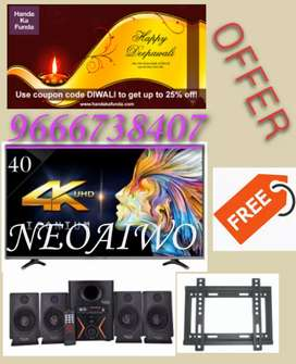 "Diwali offer neoaiwo 40"" SMART Led tv Free Home theatre"