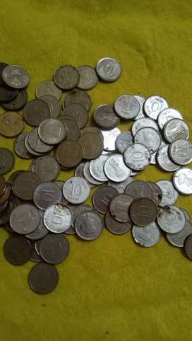 Steel 10 paise coin for sale