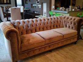 New Classic seven seater sofa Chesterfield in imported Shaineel fabric