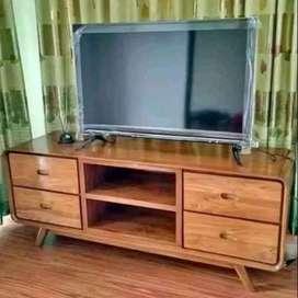 Buffet tv minimalis modern kayu jati sw67