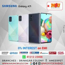 Samsung Galaxy a71 now available @ 0% ON EMI @N4U MOBILES