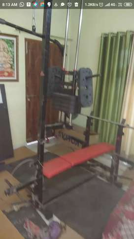 Multifunction home gym setup