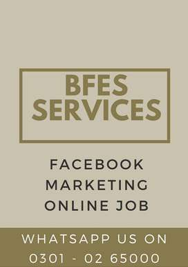 We are looking marketing person for online home face book marketing