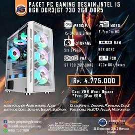 PC Custom gaming & desain INTEL I5,8GB RAM DDR3