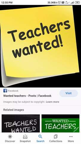 Wanted Lady Teachers to Teach LKG, UKG ,1st class.