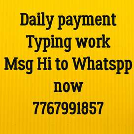 Daily payment available for simple typing work