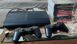 PS3 + 2 controllers +10 games(all original)