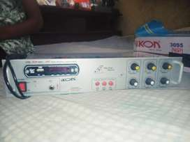 2 months old amplifier with 4 years warranty card and remote