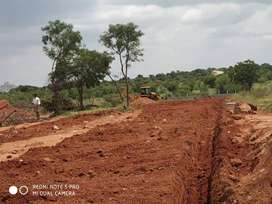592 Sq Ft Clear Title Farm Land Plots for Sale near Srisailam Highway