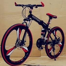 Bicycle Folding Red color 21 gears available in a good condition