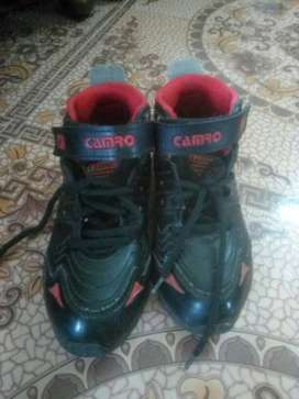 Black-and-red Camro Velcro Shoes No:4