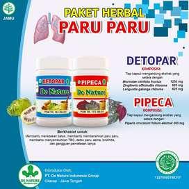 Herbal De Nature Obat ASMA PARU PARU TBC BRONKITIS Detopar Pipeca