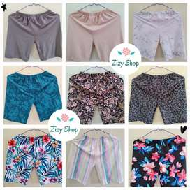 Celana Leging Pendek Motif | Celana Pendek Spandek Fit To XL buy 3 50K