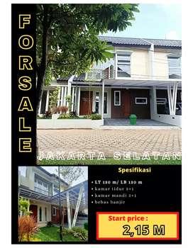 Dijual rumah dalam cluster area jakarta selatan jagakarSa