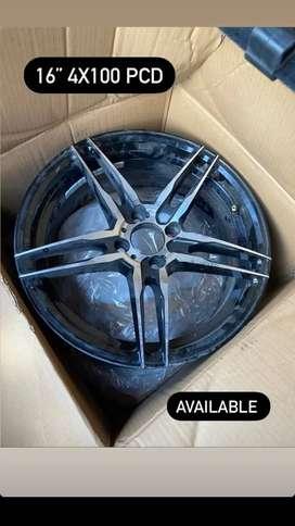 """16"""" GTR Pro alloy wheels 100×4 PCD"""