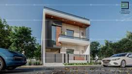118 YARD DESIGNER DUPLEX HOUSE 65 LAC(GANGA NAGAR MAWANA ROAD)