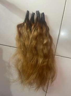 Hair extension Rp 3.000 per helai