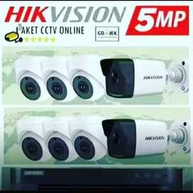 Paket CCTV full hd hikvision 2mp/5mp murah