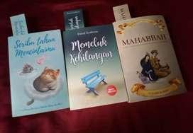 Buku novel sastra,fiksi dan percintaan