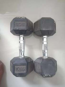 Gym dumbbells (10kg 2pcs)