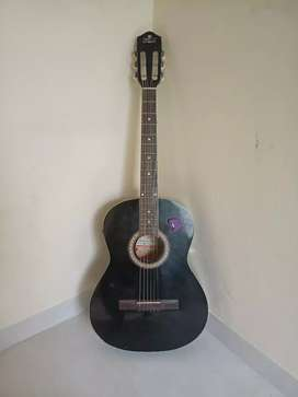 Matte Black Semi Acoustic Guitar