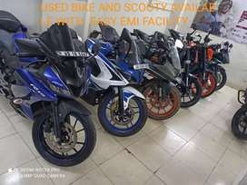 New condition sports type bike and scooty available for finance