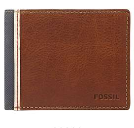 FOSSIL USA TRAVELLERS Leather WALLET MEN