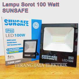 Lampu Sorot/Lampu Tembak/Flood Light LED 100Watt IP66 SUNSAFE