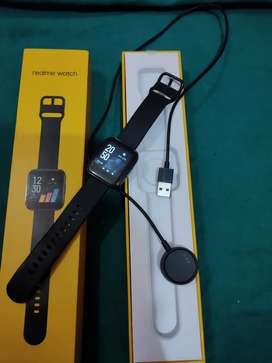 Realme Watch with black classic strap