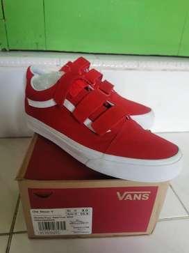 Sepatu Vans os velcro red