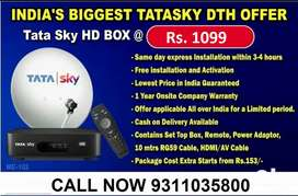 TATA SKY HD CONNECTION STARTING JUST RS 1099/-