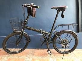 Sepeda Lipat London Bike Amadeus Green British Tinggal Pakai
