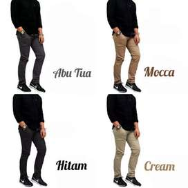 Celana Chinos Chino Panjang Cotton Twill Stretch