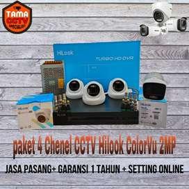 Paket 4 Chenel CCTV Hilook ColorVu 2MP