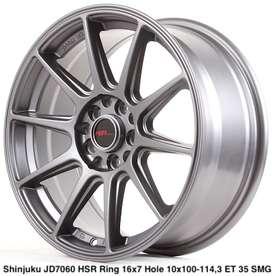 yang baru SHINJUKU JD7060 HSR R16X7 H10X100-114,3 ET35 SMG