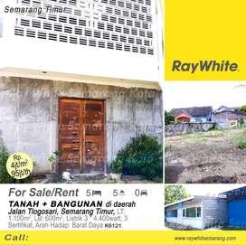 Dijual/sewakan Tanah + Bangunan didaerah Tlogosari - K6121