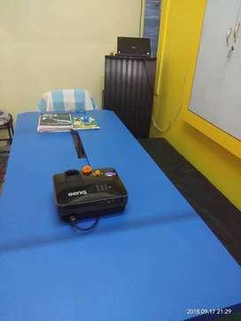 Benq Projector + Lenevo Laptop + Confrence Table
