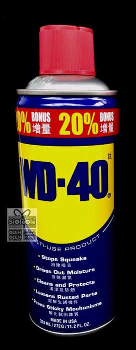 Terbaik! WD40 Original 333ml, include pipet