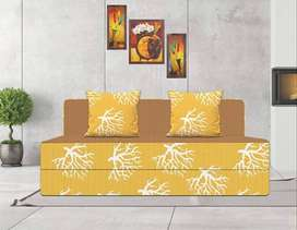 3 IN 1 Feature On NEW SOFA CUM BED WITH MANY COLORS_ home delivery opt