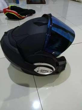 Helm LS2 FF399 Valiant Matt Black Like New Perfect