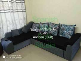 attractive look sofa cum bed with 6 ft long storage 8x6 size ,in fabri