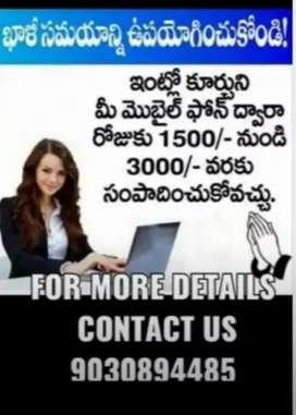 Good opportunity work from Home