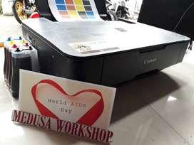 Printer Canon Seri MP237 - Catdrige Masih Segel + Kabel + Infuss